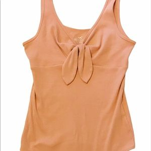 Hollister Blush Pink Body Suite Tie Front